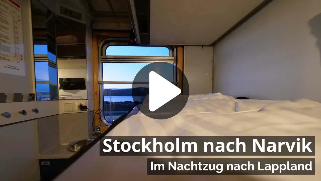 Video Nachtzug Stockholm nach Narvik