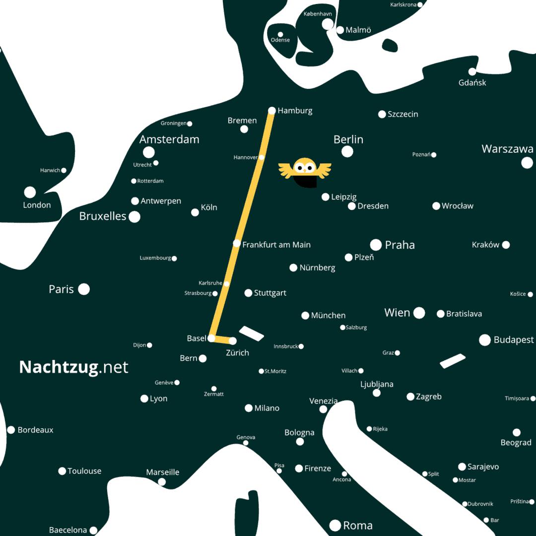 Nachtzug Hamburg-Zürich