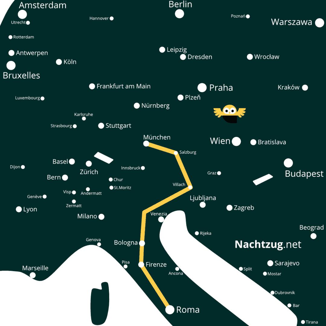 Nachtzug München-Rom