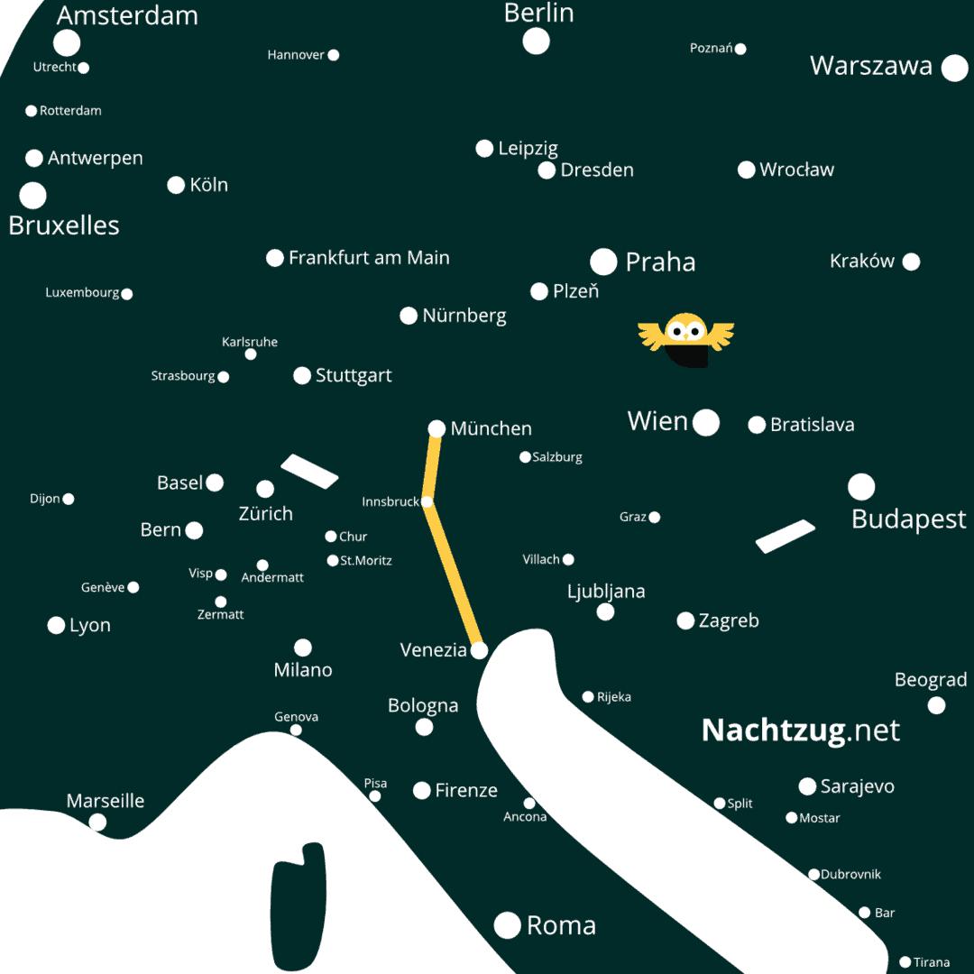 Nachtzug München-Venedig