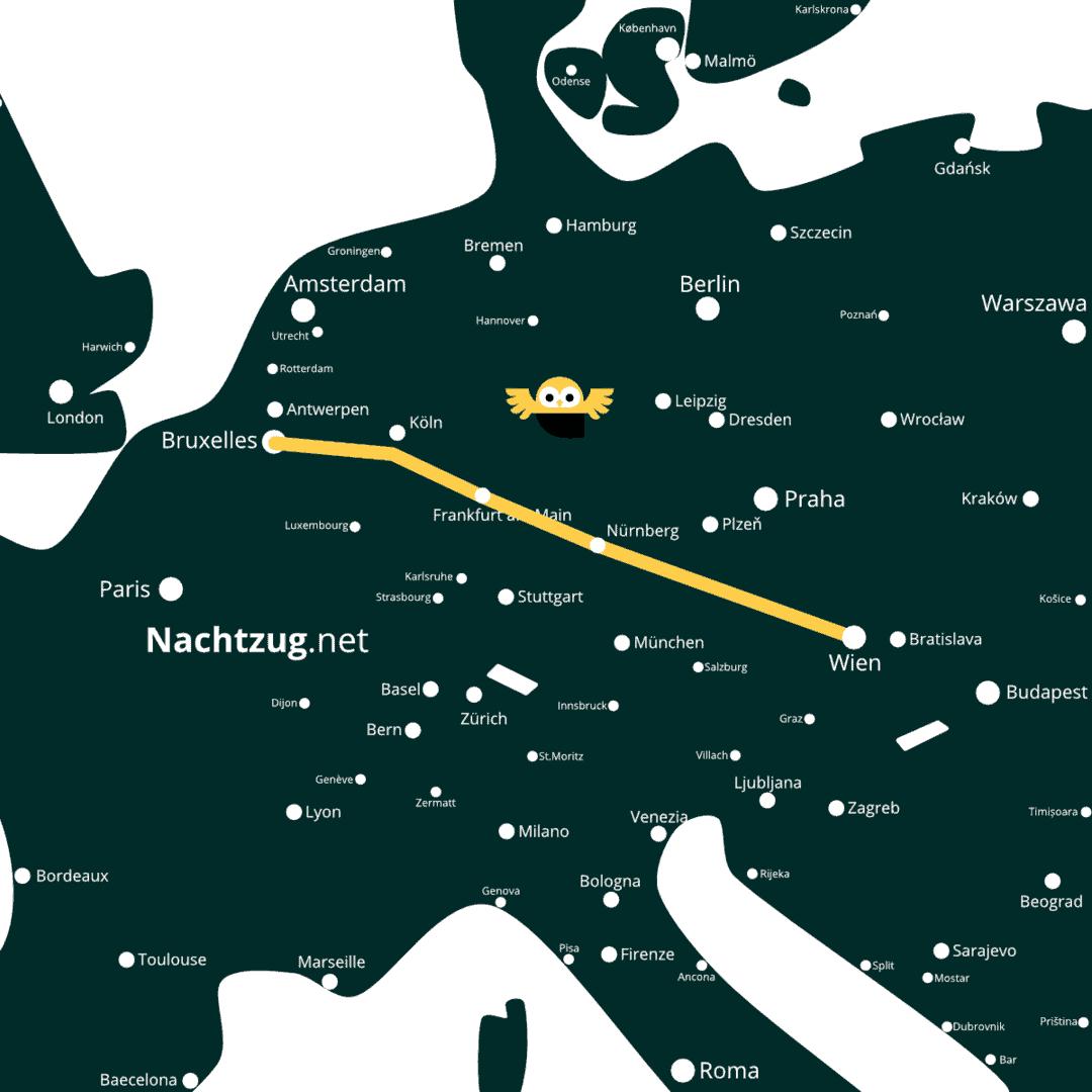 Nachtzug Wien-Brüssel